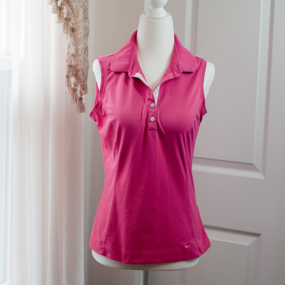 Nike Tops - ☀️ Nike Golf Fit dry Pink Sleeveless Polo